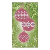 """Схема для вышивки бисером """"Новогодние шары"""""""