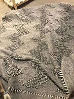 Килимок вовняної ручна робота Карпатський ліжник Сірий Букле, фото 1