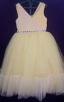 Дитяча сукня для дівчинки Фея 6-8 років, жовтого кольору