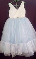 Дитяча сукня для дівчинки Фея 6-8 років, блакитного кольору