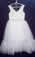 Дитяча сукня для дівчинки Фея 6-8 років, молочного кольору