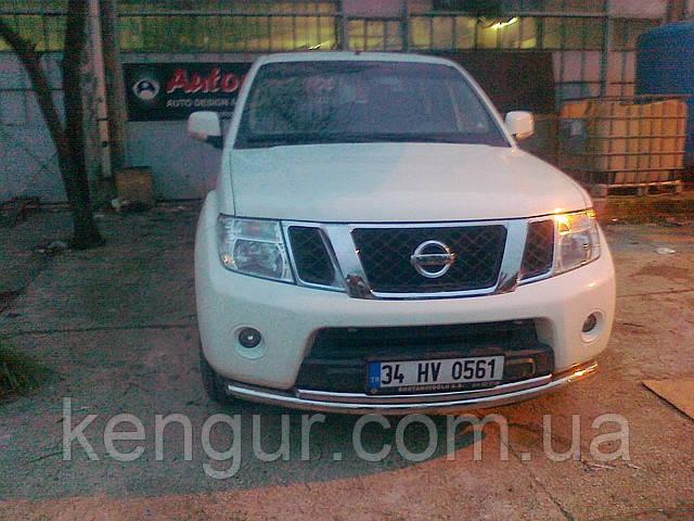 Защита передняя на Nissan Pathfinder