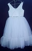 Дитяча сукня для дівчинки Фея 6-8 років, білого кольору