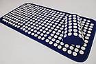 ОПТ Акупунктурний килимок для масажу спини і ніг з подушкою-валиком для голови масажер osport синій колір, фото 4