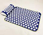 ОПТ Акупунктурний килимок для масажу спини і ніг з подушкою-валиком для голови масажер osport синій колір, фото 5
