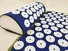 ОПТ Акупунктурний килимок для масажу спини і ніг з подушкою-валиком для голови масажер osport синій колір, фото 7