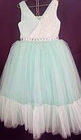 Дитяча сукня для дівчинки Фея 6-8 років, м'ятного кольору