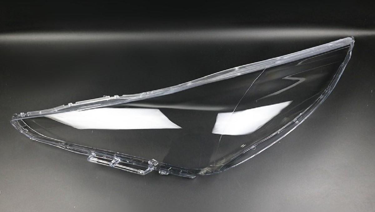 Пластиковое стекло фары Hyundai Sonata (YF) 2009-2014 левое (водительское)