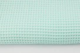 Відріз М'якої Вафельки ніжно-м'ятна/аква 60х75 см