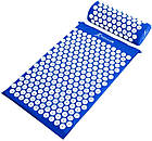ОПТ Акупунктурний килимок для масажу спини і ніг з подушкою-валиком для голови масажер osport синій колір, фото 8