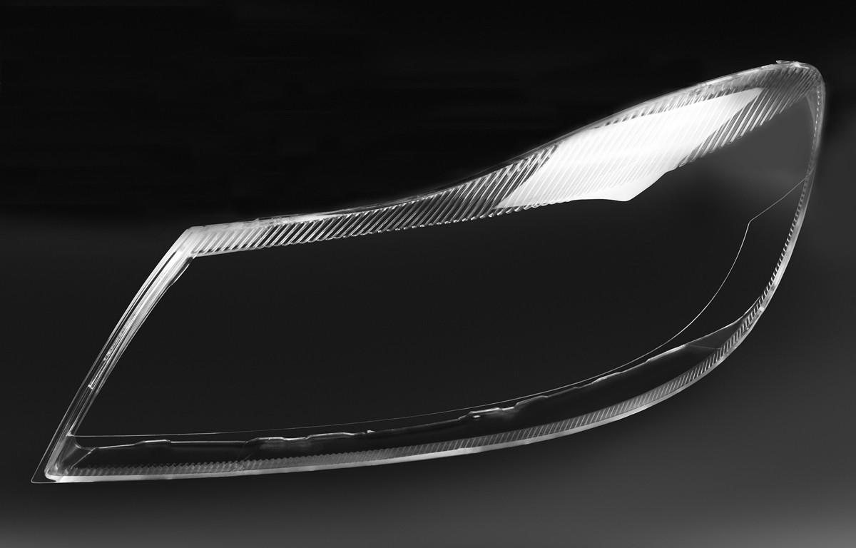 Пластиковое стекло фары Skoda Octavia A5 (1Z) 2008-2013 левое (водительское)