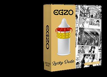 Насадка на член EGZO Lucky Dude (презерватив с усиками) Bomba💣