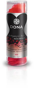 Декоративные лепестки розы DONA Rose Petals Red, многоразовые, не вянут Bomba💣