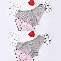 Комплект женских трусиков слипов кружевные (4шт.) размер XL, фото 3