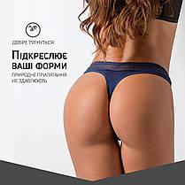 Комлект Жіночих трусиків стрінгів бавовна сітка на резинці Розмір XL (5шт), фото 3