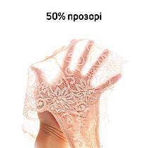 Комплект жіночих трусиків стрінгів мереживо (4шт.) Розмір L, фото 3