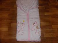 Конверт для новорожденных теплый для девочки