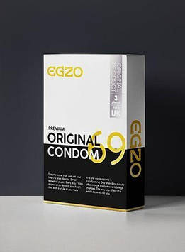 Анатомические презервативы EGZO Original (упаковка 3 шт) Bomba💣