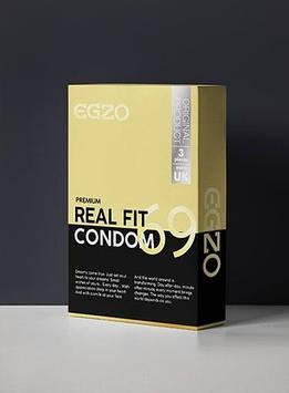 Плотнооблегающие презервативы EGZO Real fit (упаковка 3 шт) Bomba💣