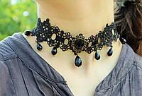 Модный чокер на шею Украшение Кружево с кристаллами