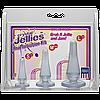 Набір анальних пробок Doc Johnson Crystal Jellies Anal - Clear, макс. діаметр 2см - 3см - 4см     18+, фото 2
