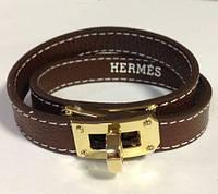 Браслет в стиле Hermes - коричневый