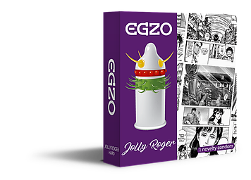 Насадка на член EGZO Jolly Roger (презерватив с усиками) Bomba💣