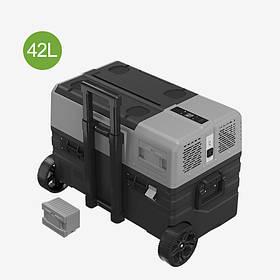 Автохолодильник двухкамерный Alpicool NX42 фрионовый + батерея 12 / 24 / 220V (От -20 до +20)