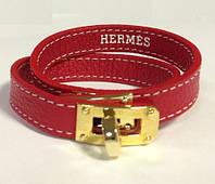 Браслет в стиле Hermes - красный