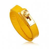 Браслет в стиле Hermes - желтый