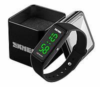 Спортивные наручные мужские электронные часы Skmei 1265 черного цвета, фото 1