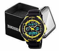 Наручний чоловічий спортивний цифровий годинник Skmei 0931 чорно-жовтий