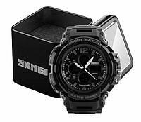 Наручний чоловічий чоловічий армійський годинник Skmei 1343 чорний, фото 1