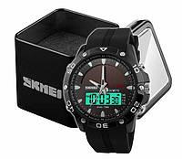 Наручний чоловічий спортивний цифровий годинник Skmei 1064 на сонячній батареї Колір Чорний