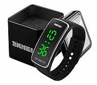 Женские цифровые спортивные часы Skmei 1119 со светодиодным дисплеем черные