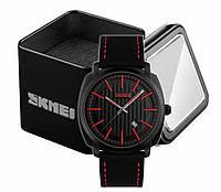 Наручные мужские классические часы Skmei 9169 черно-красные