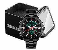 Годинник Skmei 1146 наручний чоловічий аналогово-цифровий чорний