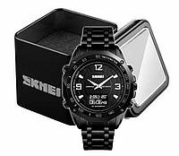 Наручные спортивные мужские часы Skmei 1464 черные, фото 1