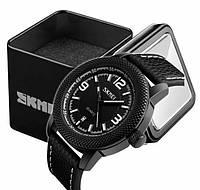 Наручные мужские классические часы Skmei 9138 черные
