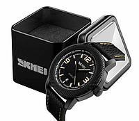 Наручные мужские классические часы Skmei 9138 черно-желтые