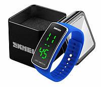 Женские цифровые спортивные часы Skmei 1119 со светодиодным дисплеем синие