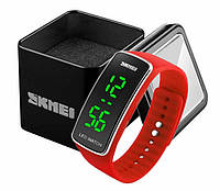 Женские цифровые спортивные часы Skmei 1119 со светодиодным дисплеем красные
