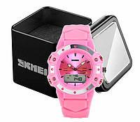 Часы женские наручные спортивные аналогово-цифровые Skmei 0821 розовые