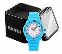 Наручные детские часы Skmei 1043 аналоговые кварцевые голубые