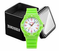 Наручные детские часы Skmei 1043 аналоговые кварцевые зеленые, фото 1