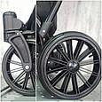 Універсальна коляска дитяча трансформер 2 в 1 Lorex Зручна дитяча коляска з люлькою Еко шкіра Рожевий, фото 7