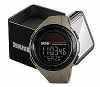 Наручний чоловічий спортивний цифровий годинник Skmei 1405 на сонячній батареї хакі