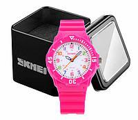 Наручные детские часы Skmei 1043 аналоговые кварцевые розовые