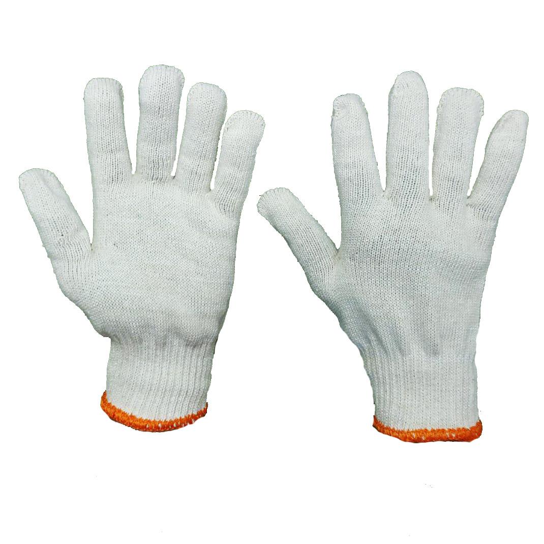 Перчатки рабочие хб  бех ПВХ точки белые