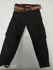 Джинсы- карго  супер модные чёрного цвета для мальчиков. Размеры 116.122.128.134.140.146.Низ на резинке.